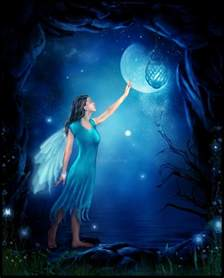 Fairies Light Wiccan Moonsong Flower Moon