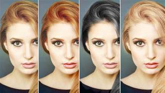 changing color in photoshop change hair color in photoshop brown hairs