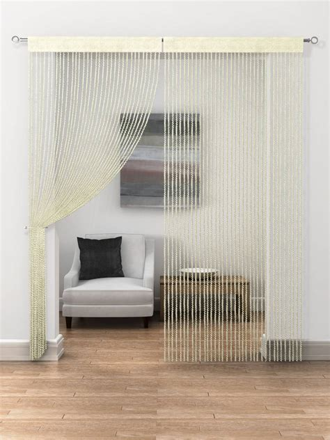 cream string curtains cream twist string curtains price is per panel net