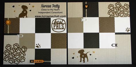 scrapbook layout basics noreen s scrap n chat ctmh basics puppy scrapbook layout