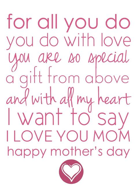 printable mother quotes 25 best ideas about mothers day poems on pinterest