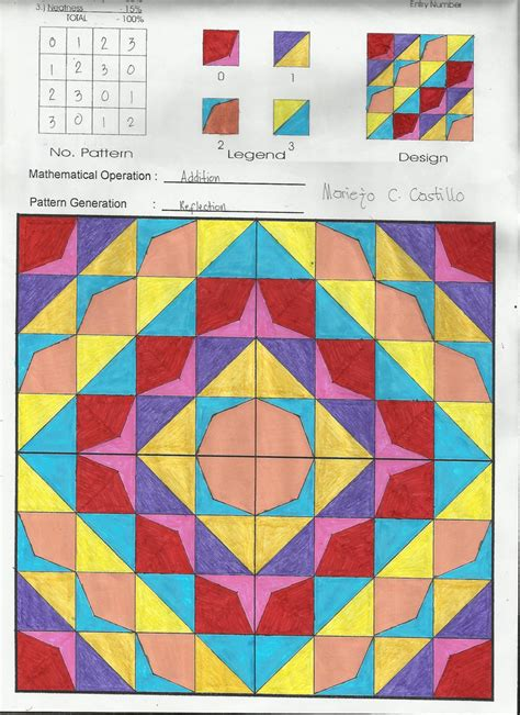 Modulo Art Pattern Grade 8 | modulo art modulo art our lady of mount carmel learning