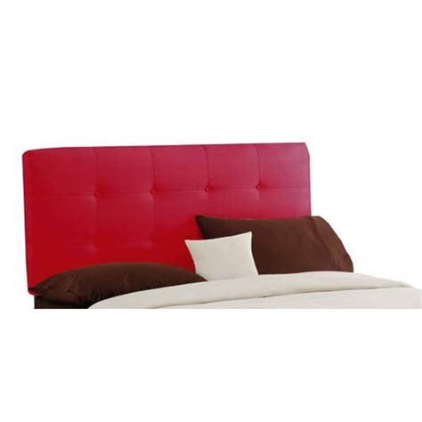 red tufted headboard red upholstered headboard bellacor