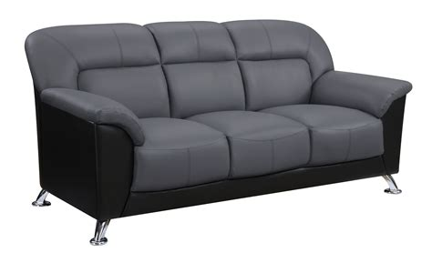 Vinyl Couches by U9102 Grey Black Vinyl Sofa By Global Furniture