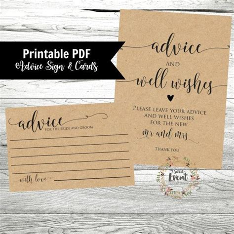 marriage advice cards templates 17 best ideas about advice cards on marriage advice cards wedding advice cards and