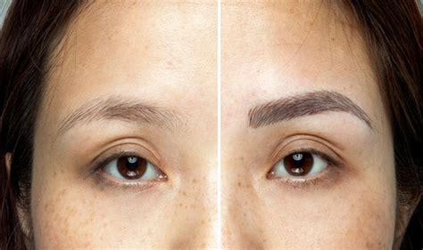 eyebrow tattoo keloid eyebrow microblading