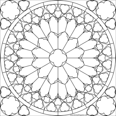 stained glass coloring book free coloring pages of stained glass of
