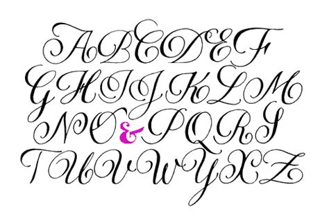 Home Decor Words by Fancy Calligraphy Alphabet Letters My Digital Imaging