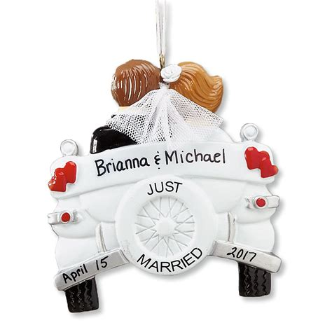 Wedding Gift Ornaments personalized just married ornament wedding gift
