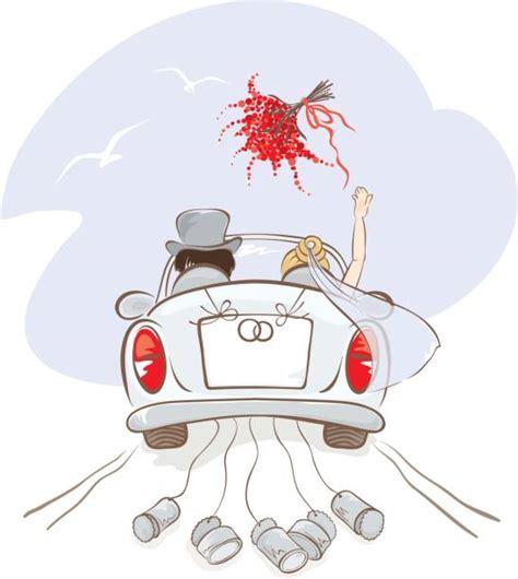 Just Married Auto Clipart Kostenlos by Just Married Auto Vektorgrafiken Und Illustrationen Istock