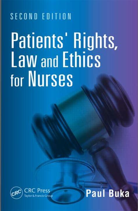 patients rights law  ethics  nurses crc press book