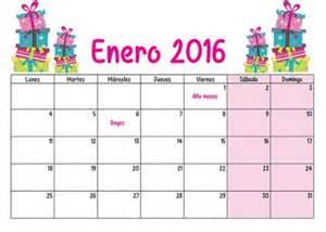 Calendario Enero 2016 Para Imprimir Calendario 2016 Para Imprimir