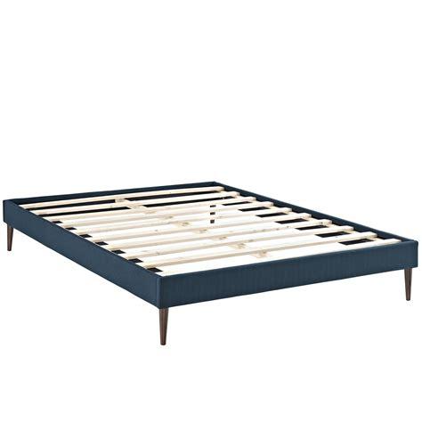 sherry upholstered fabric king platform bed frame azure