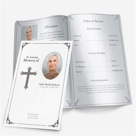 73 Best Printable Funeral Program Templates Images On Pinterest Microsoft Word Free Trial Funeral Service Template
