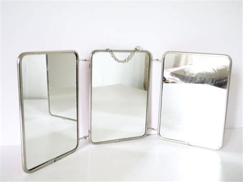 folding mirrors for bathroom french barber triptych three panel folding mirror triptych