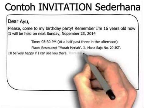 pengertian invitation undangan bahasa inggris dan