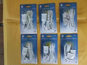 New single clip lights c 7 bulb christmas village houses blowmolds 4