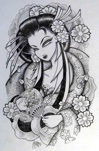 venus flytrap tattoo sakura geisha tattoo design in