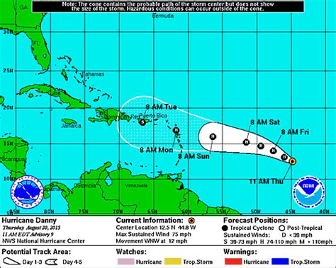 2015 projected path hurricane danny hurricane danny forms in the atlantic 1st of the season