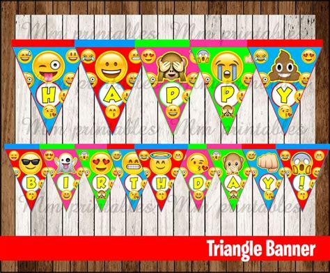 printable emoji banner 80 off sale emoji triangle banner instant download