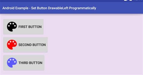 android button layout width programmatically android set button drawableleft programmatically