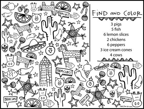 coloring pages for restaurants color a mandala comida mexicana printable coloring pages