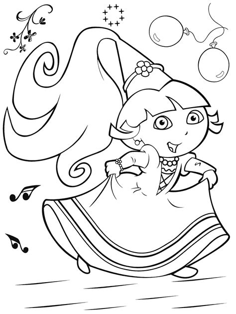 dora the explorer coloring games coloring pages