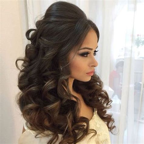 indian hairstyles for dinner 71 breathtaking wedding hairstyles with curls happywedd