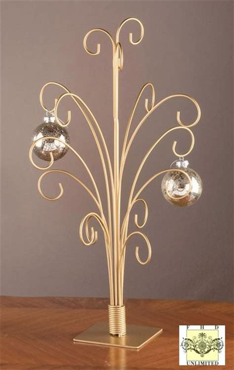 ornament trees gold metal ornament stand ornament