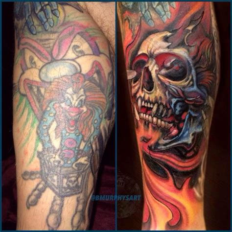 3rd dimension tattoo cover up by brian murphy tattoonow