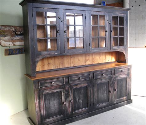 Wood Hutch Cabinet large reclaimed wood hutch rustic china cabinets and hutches boston by lakeandmountainhome