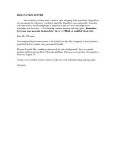 Tactful Resignation Letter resignation letter format regardless tactful friendly resignation letter employer reference