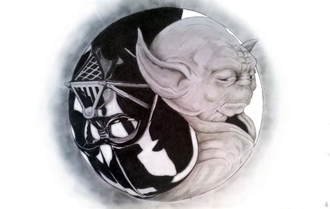 Custom Emoney Yin Yang wars yin yang pencil drawing