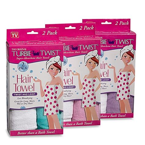 Turbie Twist Hair Towel turbie twist 174 hair towel set of 2 bed bath beyond