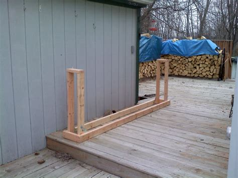 Make Firewood Rack by Woodworking Plans How To Build Wood Pile Rack Pdf Plans