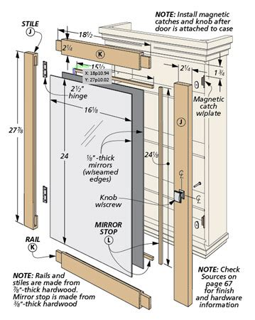 medicine cabinets woodworking project woodsmith