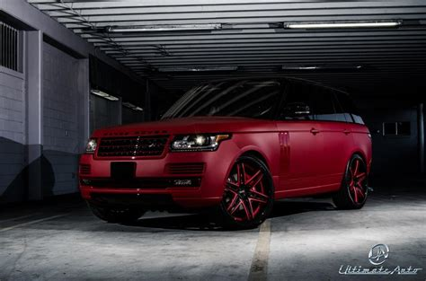 land rover matte matte red range rover celebrity auto edition by ultimate