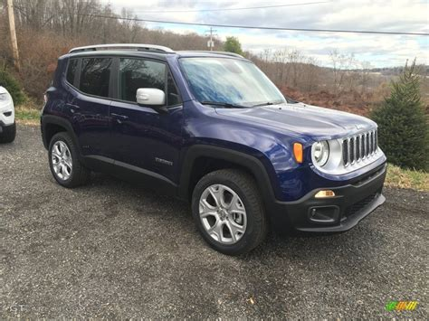 jeep 2016 blue jetset blue 2016 jeep renegade limited 4x4 exterior photo