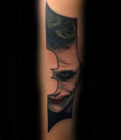 joker batman symbol mens forearm tattoos batman