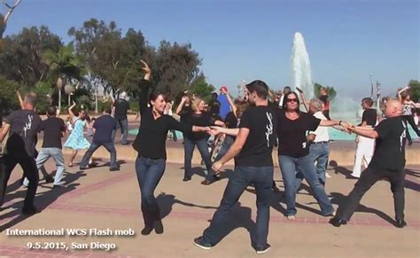 west coast swing san antonio international flashmob west coast swing 2015