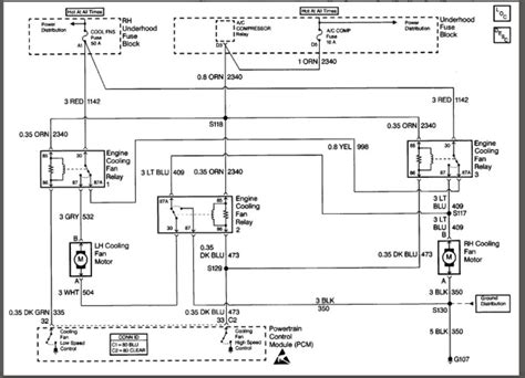 cooling fan 1999 cadillac wiring diagram 1991