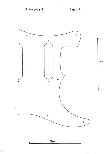 strat template strat pickguard scratchplate black 3 ply bare new