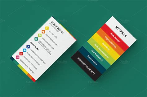 social media business card template social media business card 61 business card templates on