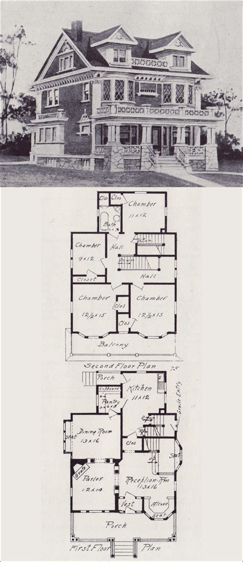antique house floor plans free home plans vintage floor plans