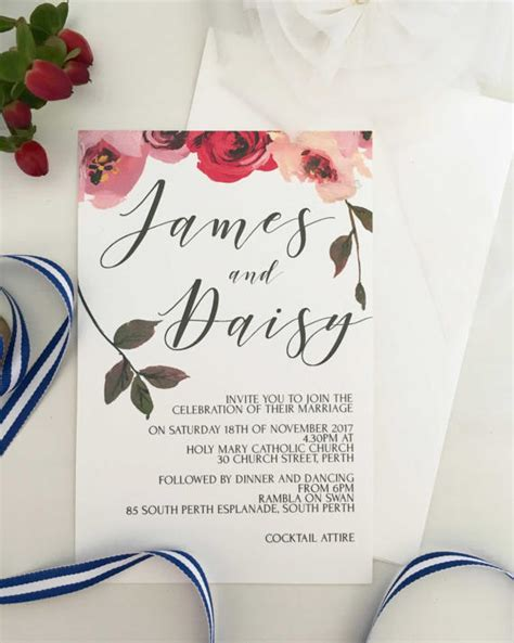 Summer Wedding Invitations by 32 Summer Wedding Invitations The Overwhelmed