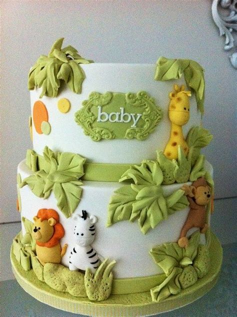 Jungle Theme Baby Shower Cakes by 17 Best Ideas About Zoo Animal Cakes On Safari
