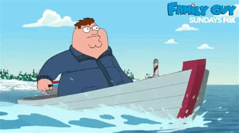peter griffin boat family guy gif by fox tv find share on giphy
