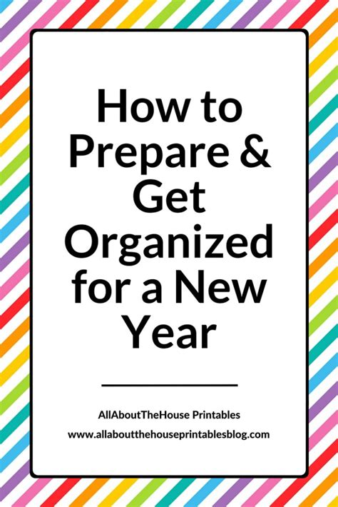 how to house a year how to prepare and get organised for a new year plus a free printable all about