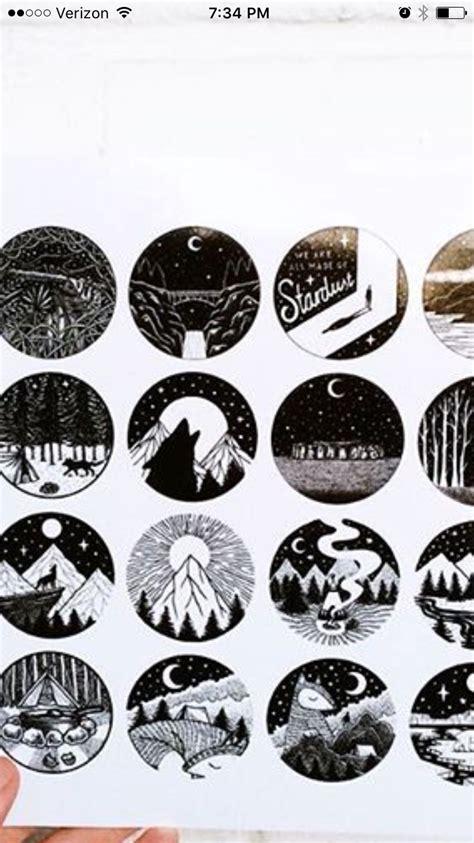 circle tattoo design black and white circle ideas mountain tattoos
