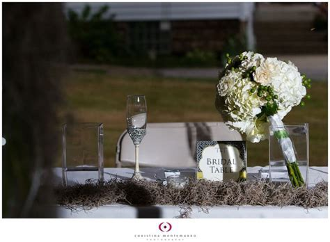 Top table dressing with spanish moss   Wedding Ideas